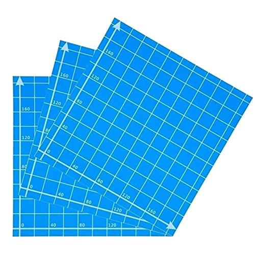 Pegatina de la placa de la hoja de acumulación de hotbed azul de 1pc 220x220mm Impresora 3D Etiqueta engomada con calefacción helada for Wanhao Anet A8 A6 MK3 Ender 5 Piezas de impresora duraderas