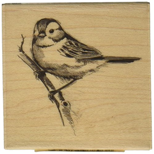 Inkadinkado Sparrow Wood Stamp for Scrapbooking and Card Decorating, 2.25'' W x 2.25'' L