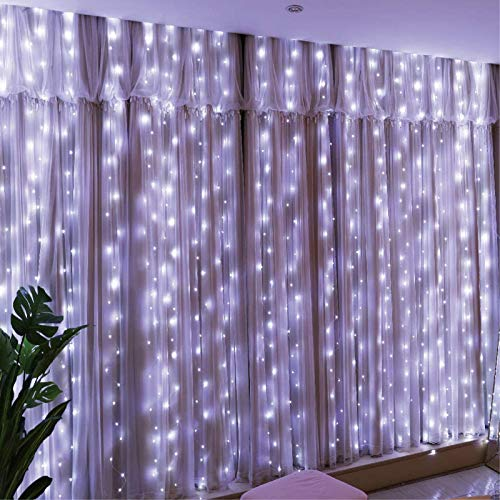 Curtain Lights 8 Modes Remote Co...