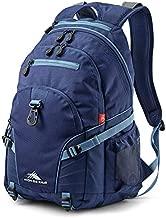 High Sierra Loop Backpack, School, Travel, or Work Bookbag with tablet sleeve, True Navy/Graphite Blue, One Size