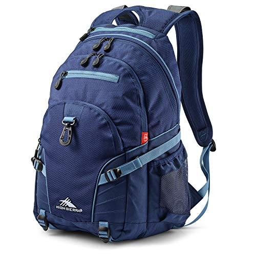 High Sierra Loop Backpack, True Navy/Graphite Blue, 19 x 13.5 x 8.5-Inch
