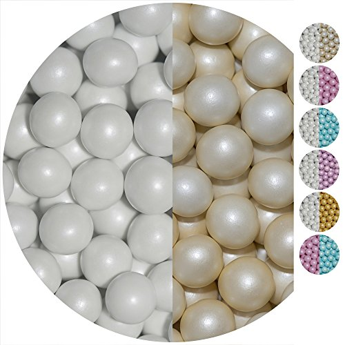 EinsSein 0,7kg Bolas de Chocolate crujiente boda bautizo Mezcla grande crema blanca perla candy bar melts cereal surtido choco corazones almendras caramelos bombones confeti peladillas regalos botes