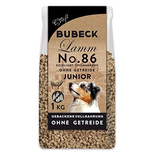 BUBECK | getreidefreies Hundefutter | Lammffleisch 1 Kg | Alleinfuttermittel für Welpen Aller Rassen bis 12 Monate | artgerecht und besonders gut verträglich