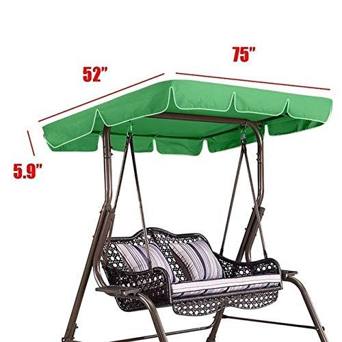 NOLOGO Gxbld-yy 75'x52 X5.9 oscilación del jardín de toldo Impermeable Ourdoor Gazebo Canopy Patio Columpio for la terraza Hamaca Tienda Verano Parasol de Vela (Color : Verde)
