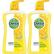 Dettol Anti Bacterial pH-Balanced Body Wash, Fresh, 21.1 Ounce / 625 Ml (Pack of 2)