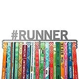 Running medal hanger #RUNNER - stainless steel holder