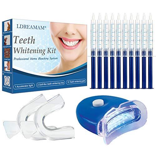 Teeth Whitening Kit,Teeth Whitening Gel,Teeth Whitening Tray Kit,Reusable Dental Whitening Kit to reduce Yellow Teeth and Smoke Marks Black Teeth