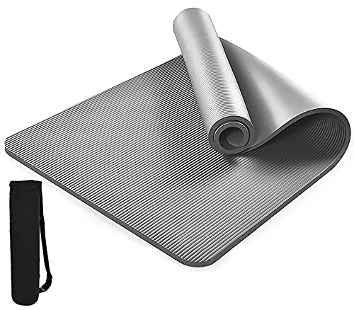 REXERA® Yoga Mat for Gym Workout and Yoga Exercise with 6mm Thickness, Anti-Slip Yoga Mat for Men & Women Fitness (Qnty.-1 Pcs.)(Grey Color)