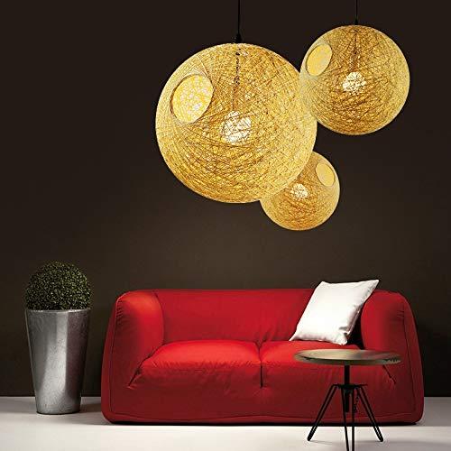 W.Z.H.H.H Lámpara Colgante LED de la lámpara de la Sala de Estar Iluminación en la alcoba Luces Colgantes Accesorios de la lámpara Pendiente de Restaurante Loft Luminarias de Madera Deco Candelabro