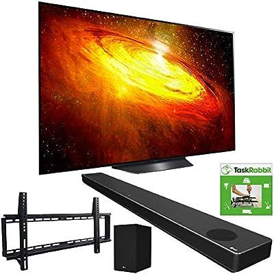LG OLED55BXPUA 55-inch BX 4K Smart OLED TV with AI ThinQ (2020) Bundle SN10YG 5.1.2 ch High Res Audio Sound Bar + TaskRabbit Installation Services + Vivitar Low Profile Flat TV Wall Mount by LG