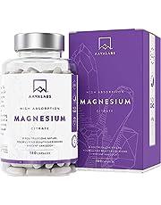 Magnesiumcitraat Supplement [ 400 mg ] Veganistisch - Hoge Dosis Elementair Magnesium - 180 Capsules - Zuiver - 1 maand voorraad aavalabs
