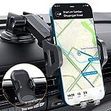 muson Soporte Móvil Coche Ventosa Fuerte/ Sujeta Movil Coche para Rejillas, 3 en 1& Rotación de 360°, para Salpicadero/ Parabrisas/ Rejillas del Aire, Universal Ajustable, para iPhone, Samsung y Más