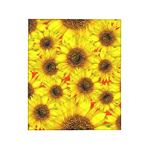 Colcha de verão com estampa de girassol, cobertor de colcha simples e lavável leve, decoração de casa bonita, tamanho 190 x 216 cm (75 x 85 pol.) Twin