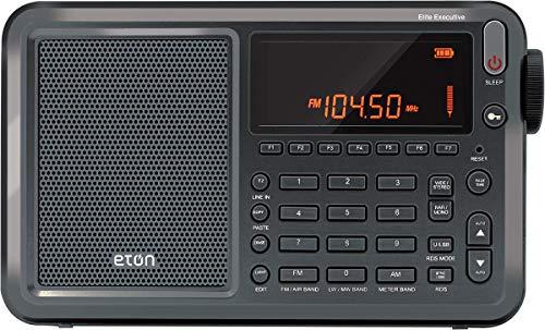 Eton Elite Executive AM FM Aircraft Band SSB Shortwave Radio with RDS & Custom Leather Carry Cover, Model:NELITESATELLIT