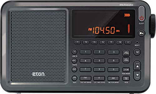 Eton Elite Executive AM/FM/Aircraft Band/SSB/Shortwave Radio with RDS & Custom Leather Carry...