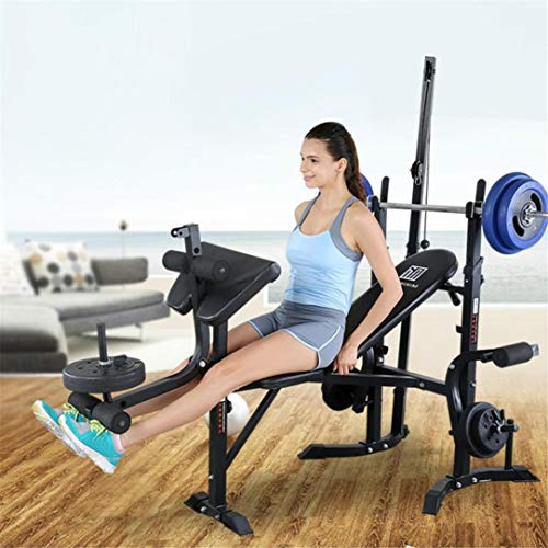 UPDD Adjustable Olympic Weight Bench with Strength Training Benchesand and Squat Rack Stand for Proffesional Fitness Home Use Indoor Exercise【US Stock】