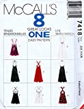 McCall's 7418 Misses Dress with Strap Variations Sewing Pattern Size 4-6-8