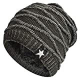 Hombres Cozy Invierno Gorra de Punto tartán Beanie Universal Cálido de Punto de esquí Beanie Hat crá...