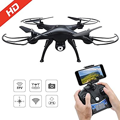 DeeXop 2.4GHz 4CH 6-Axis Gyro Remote Control Quadcopter FPV WiFi Foldable 2MP HD Camera 3D Flip Rc Drone, wht