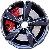Rollstuhl Speichenschutz (Paar) für Greifreifen 52,51 bis 53,50cm Außendurchmesser, Flache Halter - Enjoliveur Jaguar