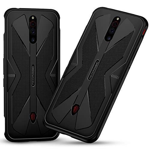 FUNMAX+ Red Magic 5G / Red Magic 5S Hülle Hülle, Silicone Handyhülle mit Anti-Rutsch-Textur Dünn Weich Bumper Cover Stoßfest Schutzhülle Fall für Nubia RedMagic 5G / 5S (Schwarz)