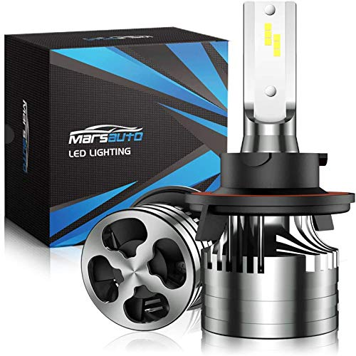 Marsauto 9008/H13 LED Headlight Bulbs with Fan,16000LM 6500K 60W Xenon White,M2 Series Hi/Lo Beam Conversion Kit