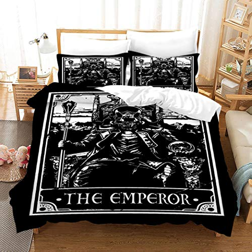 Simproude Duvet Cover Bedding Sets 3 pcs Quilt Cover and Two Pillowcases Ultra Soft Hypoallergenic Microfiber with Zipper Closure Single 55x79inch - emperor