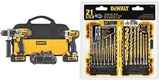 DEWALT 20V MAX Impact Driver and Hammer Drill Combo Kit (DCK290L2) with DEWALT DW1361..