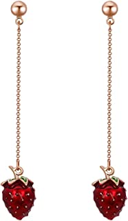 Best gold strawberry earrings Reviews