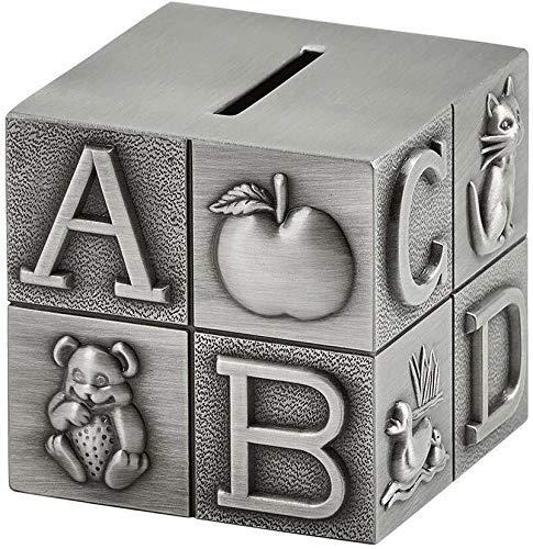 BBGSFDC Hucha de metal europeo para niños, hucha para decoración del hogar, lindo regalo de cumpleaños creativo, tamaño 7.8 x 7.8 x 7.8 cm