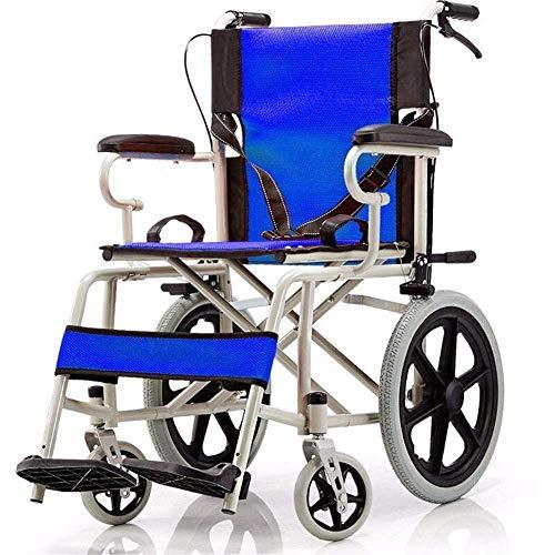 SILOLA Rollstuhl Faltbar Tragbar Manuell Rollstuhl Vollreifen Roller Rollstuhl Ergonomisch geeignet für ältere Menschen und Reisende