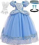 Romy's Collection Princess Cinderella Blue Toddler Girls Costume Dress Up (5-6, Blue 04)