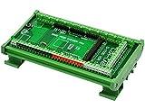 Módulo adaptador de bloque de terminales de tornillo de montaje en carril DIN de Electronics-Salon, para Arduino MEGA-2560 R3