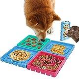 4 Pezzi Ciotola per Cani Alimentazione Lenta, Alimentazione Lenta e Interattiva, Ciotola Cani Mangiare Lento, Distributore di Cibo Lento, per l'Addestramento Degli Animali Domestici (3 Colori)