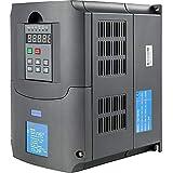 VEVOR Variador de Frecuencia 4KW 220-250V, Máquina de Frecuencia de Inversor VFD 5HP, Controlador de Velocidad de Motor, Regulador de Velocidad para Motor, Inversor de Variador de Frecuencia