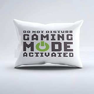 Zippered Pillow Covers Pillowcases One Side 20x26 Inch Funny Gamer Pillow for Video Games Geek Gaming Pro Pillow Cases Cushion Cover for Home Sofa Bedding