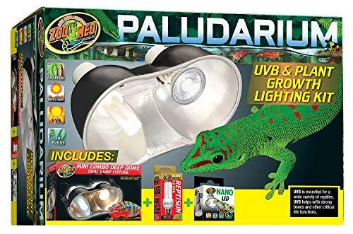 Zoo Med Paludarium Uvb + Plant Growth Light Kit