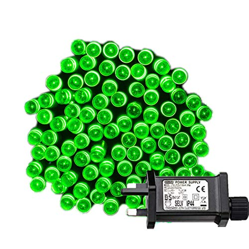 Tuokay Super Bright Plug in Fairy Lights, 12m 100 LED 8 Twinkling Modes Indoor String Lights, Decorative Christmas Lights for Xmas Tree, Gazebo Patio Lawn Yard Fence Wedding Ornament (Green)