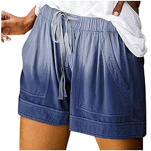 Yoga Hosen Damen High Waist 3/4 Kurze Hose Damen Schwarz Kurz Hose Mit Schleife GüRtel Sommershortsdamen Kurze Hosen Damen Sommer High Waist