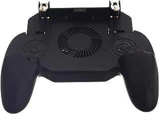 جهاز تحكم للألعاب متوافق مع الهواتف الذكية 2000 مللى امبير مع مروحة لتبريد الهاتف SP - اسود فضي