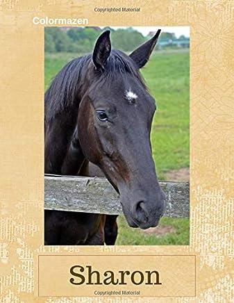 Sharon: Black Horse Personalised Notebook (Large)