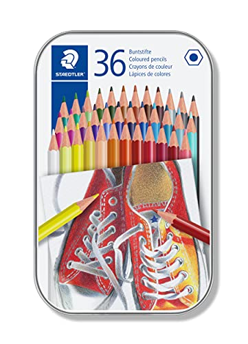 STAEDTLER 175 M36 Coloured Pencils, Assorted Colour, Pack of 36