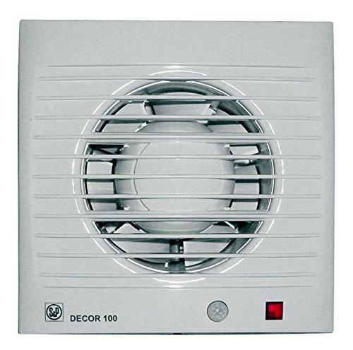 S&P 5210004700 DECOR-100 CD Extractores de Baño, 230V, 50Hz