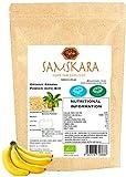 Poudre de banane Culture biologique BIO SAMSKARA Poudre de banane biologique poudre de banane utilisation alimentaire et maquillage