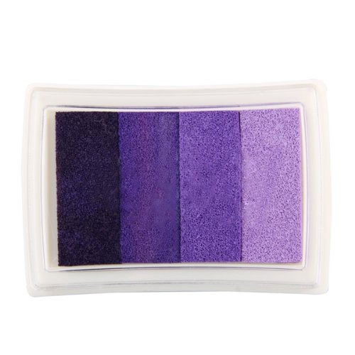 Sello de tinta para scrapbooking, multicolor, color morado, degradado