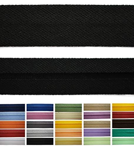 Roban Fashion Baumwoll Schrägband 20mm breit Textilband Blende in 24 Farben