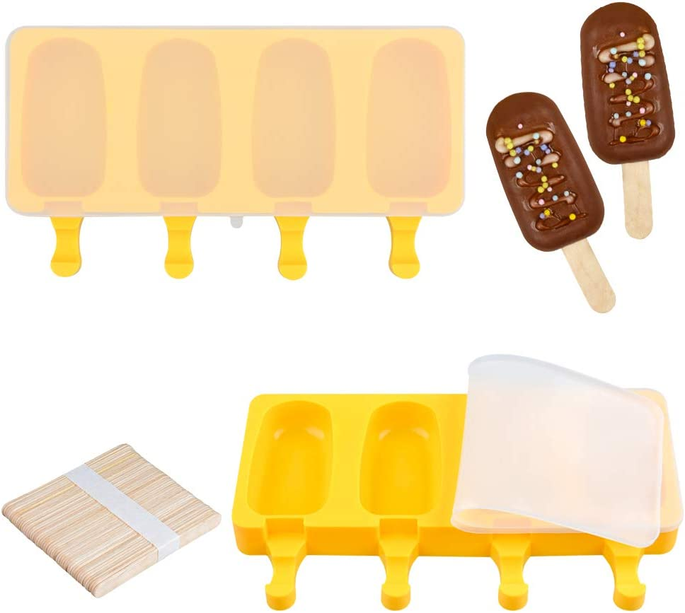 Fimary Large Popsicle Molds Set with Tucson Mall Upgrade 4 Lid Import H Cavities