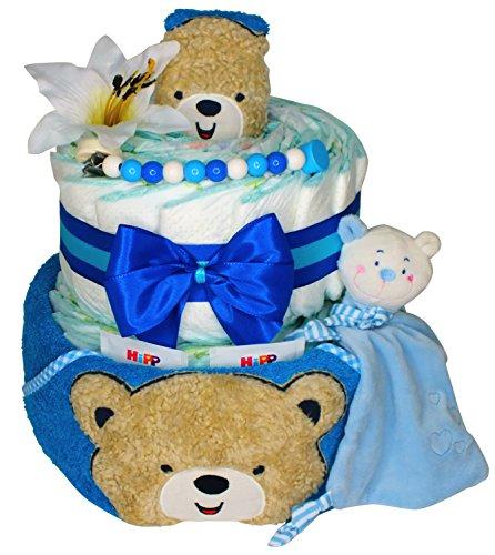 Bambilino® Windeltorte Willkommen Baby - Teddy - Blau