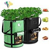 Tvird Macetero Bolsa Planta 2 Pack 7 Galones, Bolsa de Verduras, Bolsas de Cultivo, para Plantas Vegetales Aptas para Plantas de Patata, Zanahorias, Tomates, Cebollas y Otros