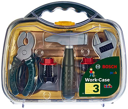 Klein - 8465 - Jeu d'imitation - Mallette outils transparente Bosch, modèle moyen